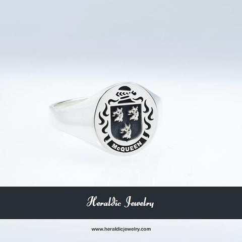 McQueen family crest ring
