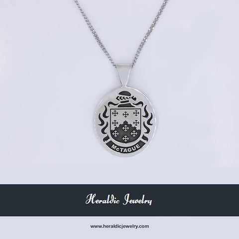 McTague family crest pendant