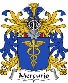 Mercurio family crest