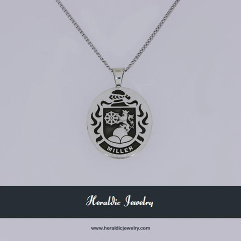 Miller family crest necklace