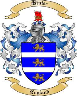 Minter family crest