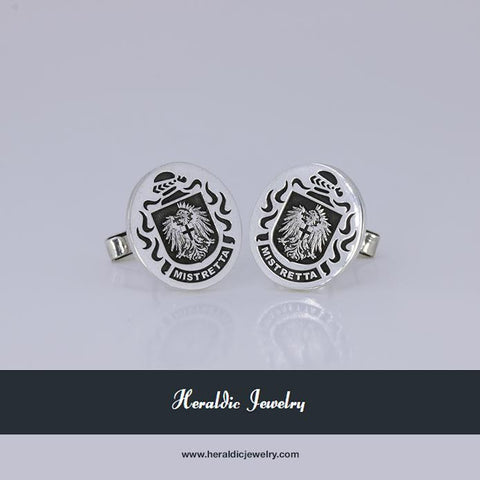 Italy family crest cufflinks