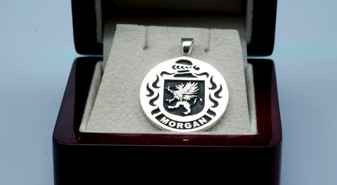 Morgan family crest pendant