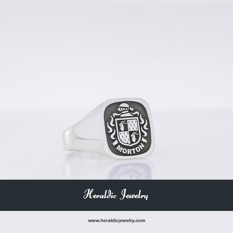 Morton family crest ring