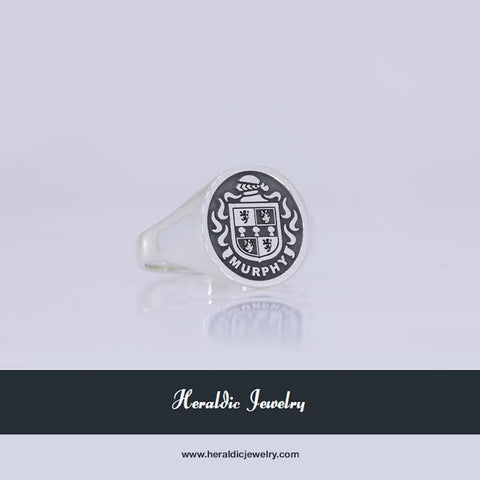 Murphy silver crest ring