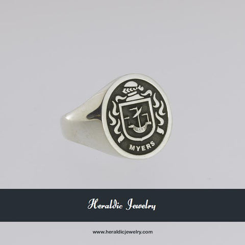 Myers family crest ring