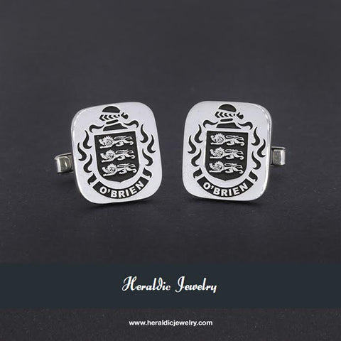 O'Brien family crest cufflinks