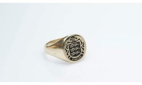 O'Brien crest signet ring