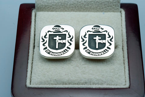 O'Donnell family crest cufflinks