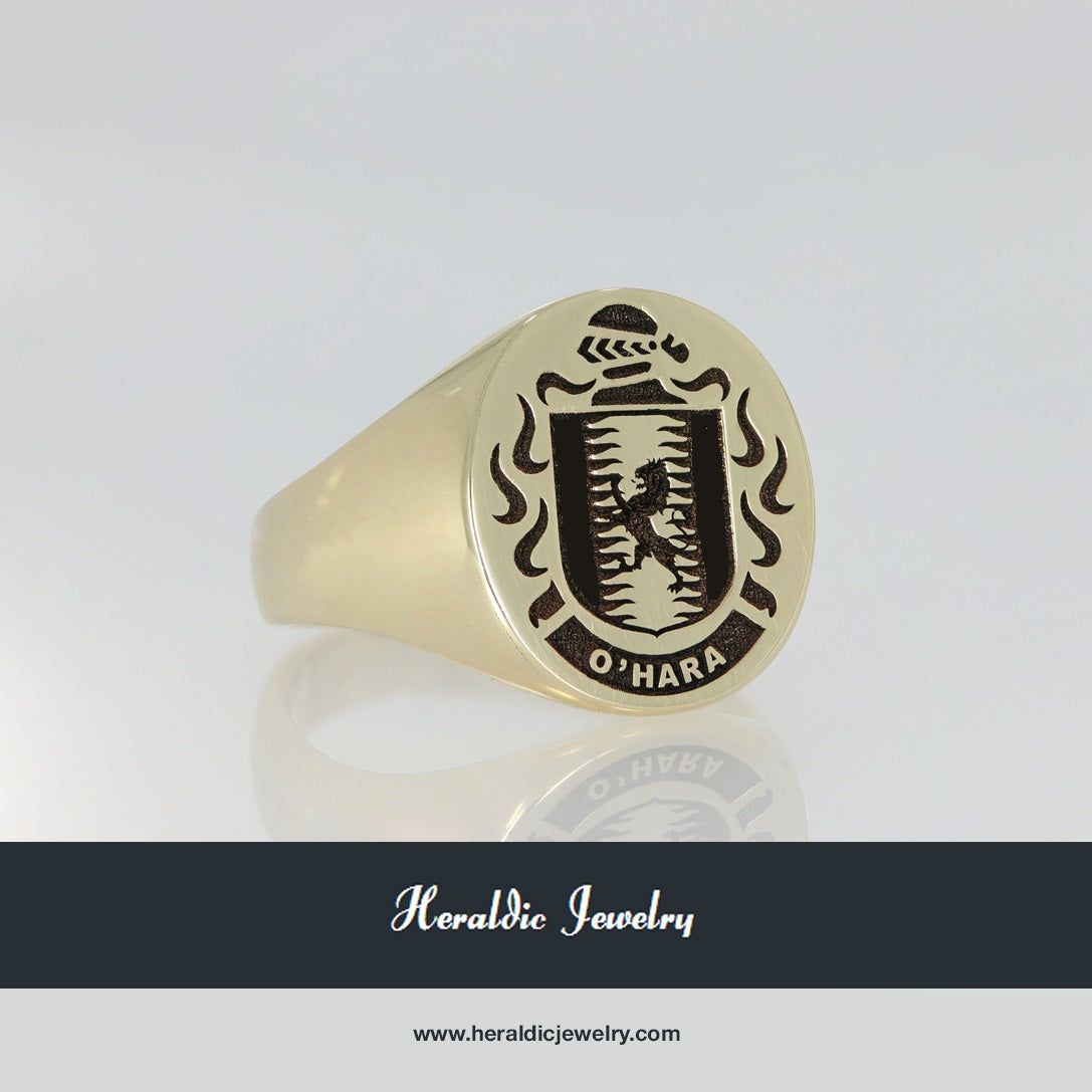 O'Hara family crest ring