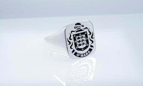 O'Mara family crest ring