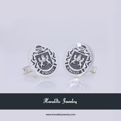 O'Reilly family crest cufflinks