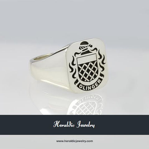 Olinger family crest ring