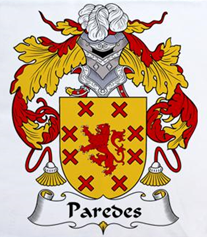 Paredes family crest