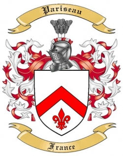 Pariseau Family Crest