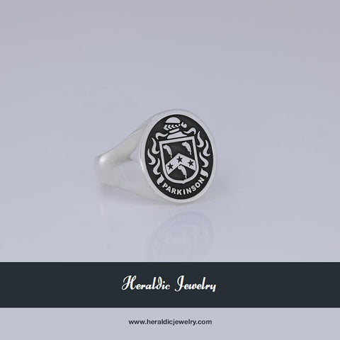 Parkinson family crest ring