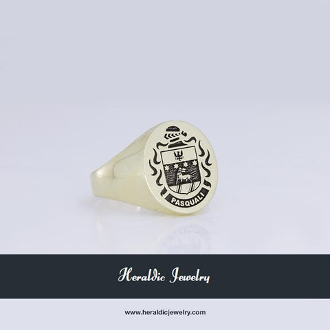 Pasquali family crest ring