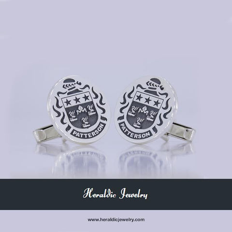 Patterson family crest cufflinks