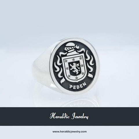 Peden family crest ring
