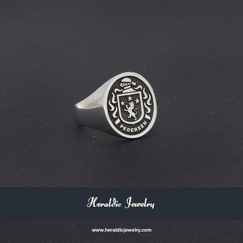 Pedersen family crest ring