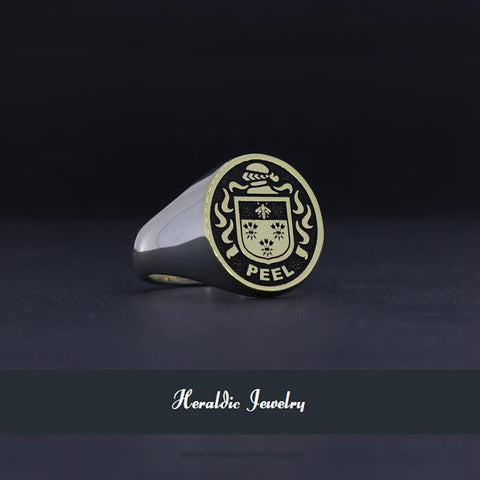 Peel family crest ring