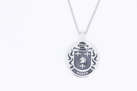 Marsh family crest pendant