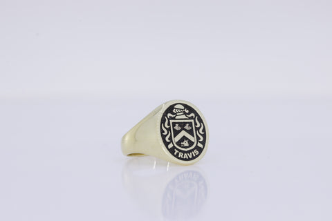 Travis family crest ring