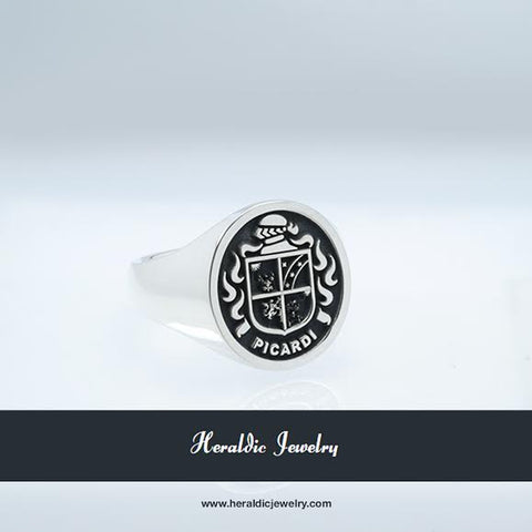 Picardi family crest ring
