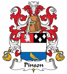 Pinson family crest