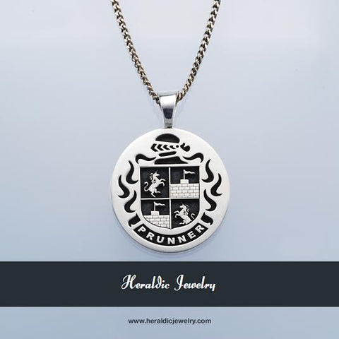 Prunner family crest necklace