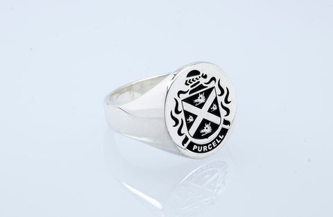 Purcell family crest ring