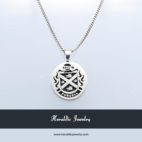 Purcell family crest necklace