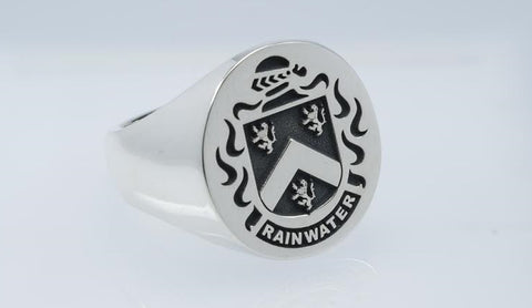 Rainwater silver crest ring