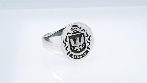 Ramsay family crest ring