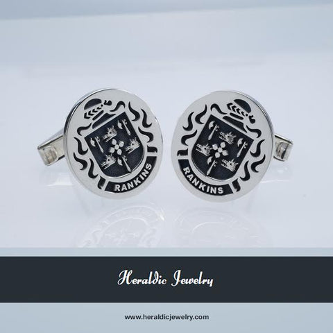 Rankins family crest cufflinks