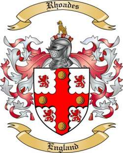 Rhoades family crest