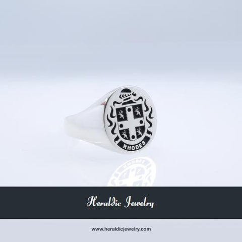 Rhodes family crest ring