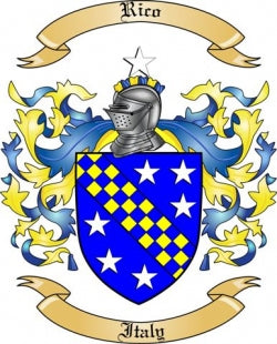 Rico family crest