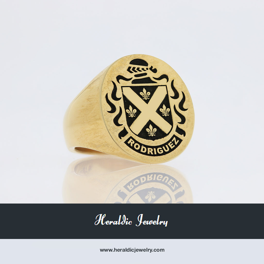 Rodriguez family crest ring