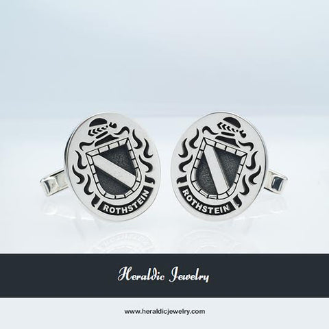 Rothstein family crest cufflinks
