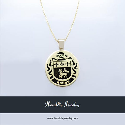 Rouen family crest necklace