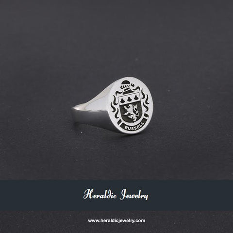 Russell family crest signet ring