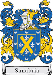 Sanabria family crest