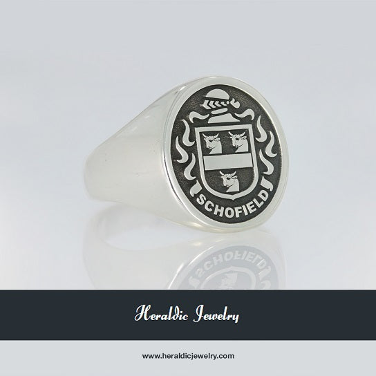Schofield coat of arms ring