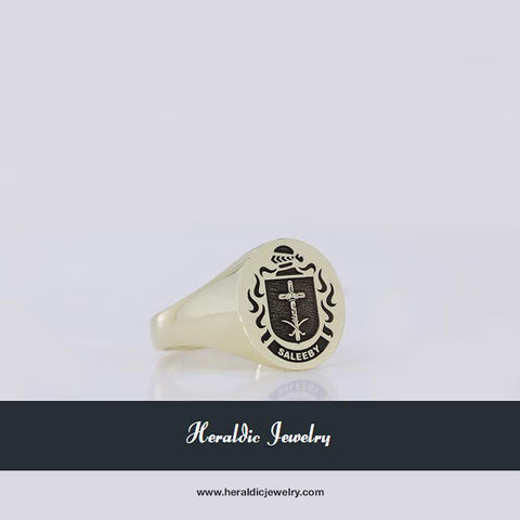 Saleeby gold family crest ring