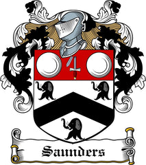 Saunders family crest