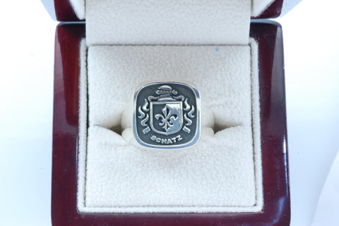 Schatz family crest ring