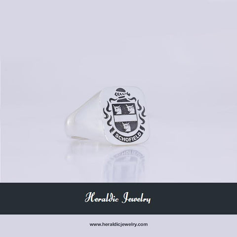 Schofield family crest ring