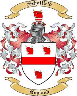 Scholfield family crest