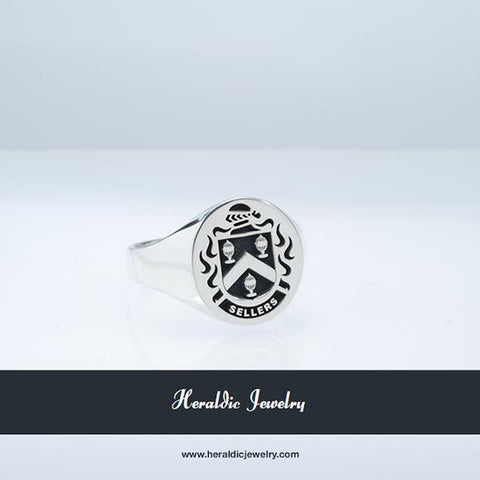 Sellers family crest ring